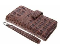 Bruin Krokodil Wallet Case Sony Xperia XZ / XZs