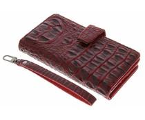 Rood Krokodil Wallet Case Sony Xperia XZ / XZs