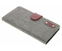 Grijs linnen look TPU booktype hoes OnePlus 2