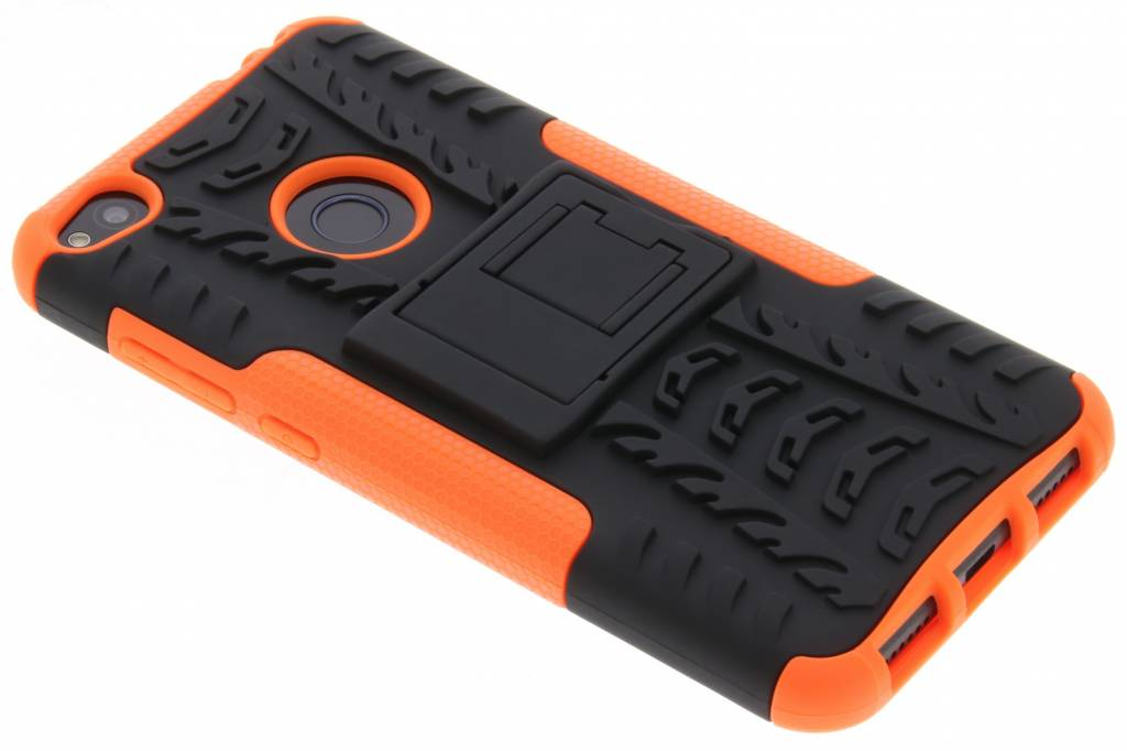 Oranje Autoband Hybrid Case voor de Huawei P8 Lite (2017)