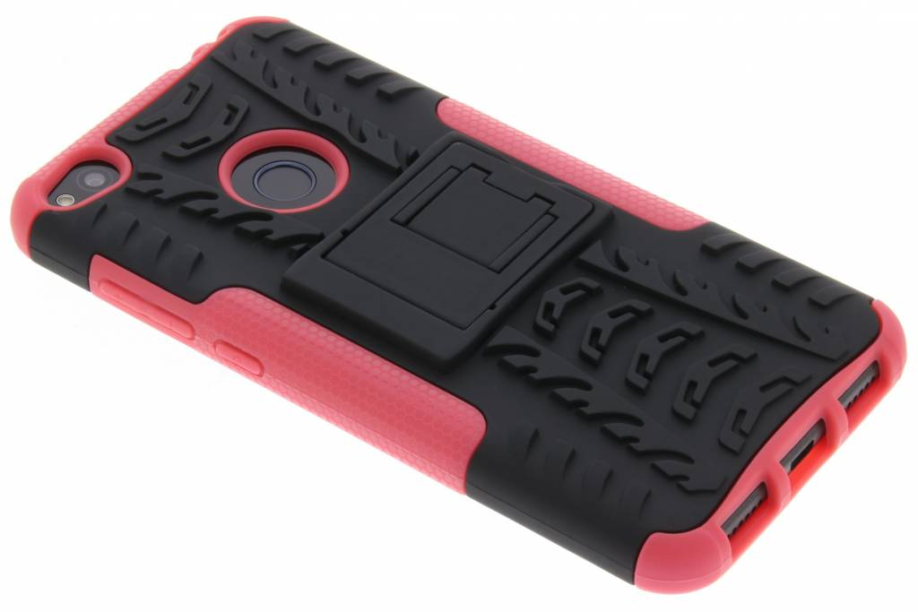 Roze Autoband Hybrid Case voor de Huawei P8 Lite (2017)