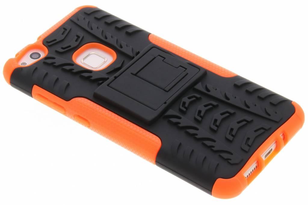Oranje Autoband Hybrid Case voor de Huawei P10 Lite