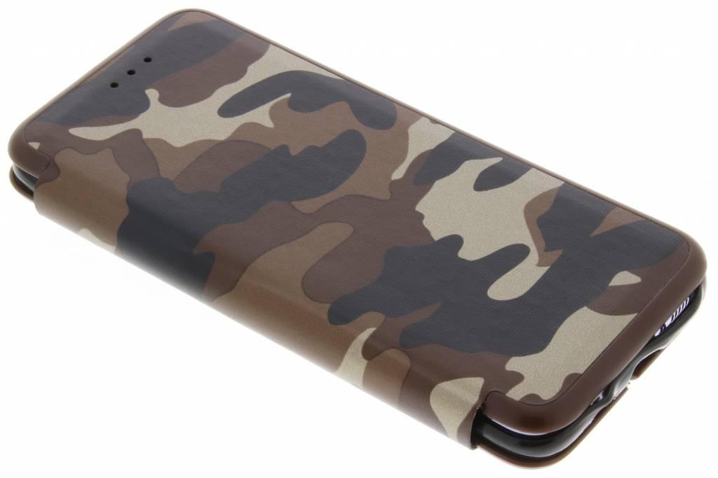 Bruine Army Slim Folio Case voor de Samsung Galaxy S8