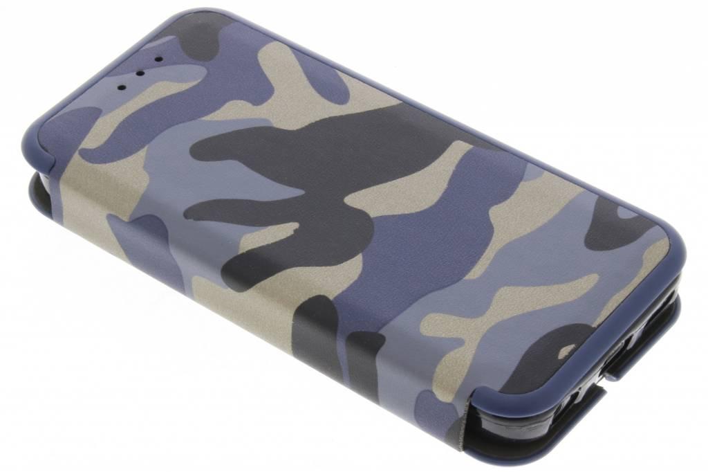 Blauwe Army Slim Folio Case voor de iPhone 5C