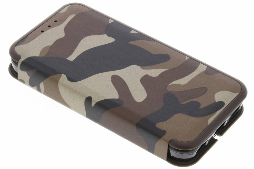 Bruine Army Slim Folio Case voor de iPhone 5C