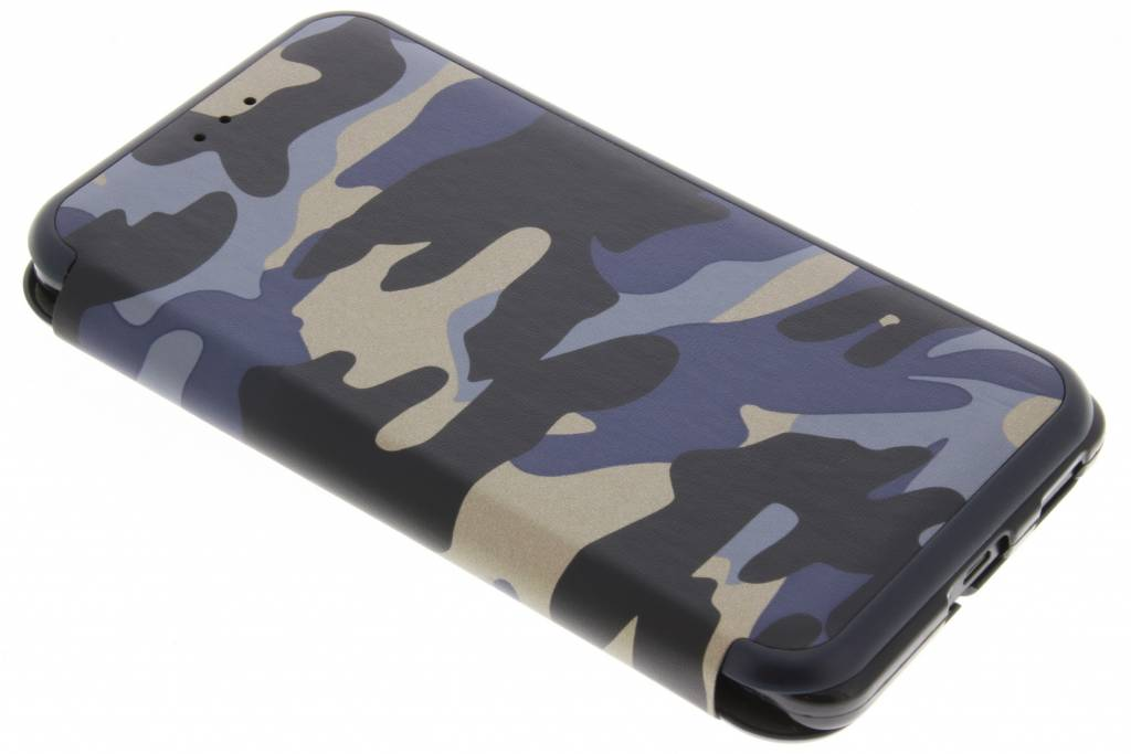 Blauwe Army Slim Folio Case voor de Nokia 6