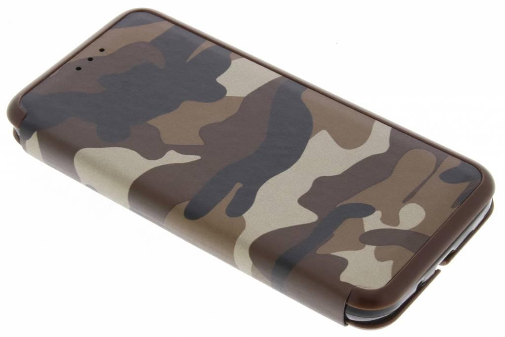 Bruine Army Slim Folio Case voor de Samsung Galaxy J3 / J3 (2016)