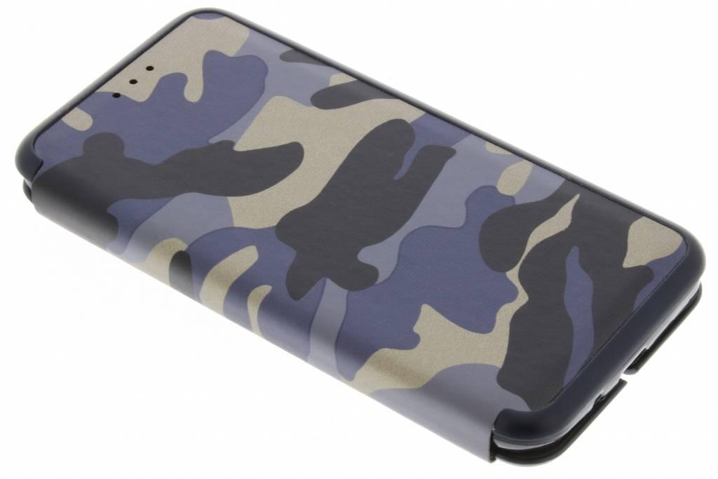 Blauwe Army Slim Folio Case voor de Samsung Galaxy J3 / J3 (2016)
