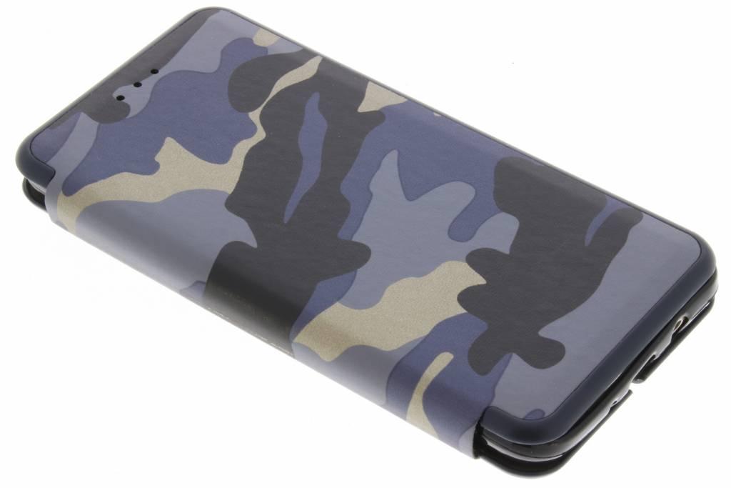 Blauwe Army Slim Folio Case voor de Samsung Galaxy J5 (2016)