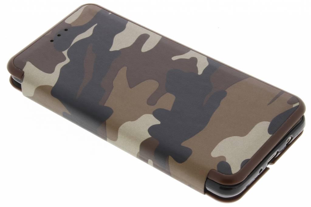 Bruine Army Slim Folio Case voor de Samsung Galaxy J5 (2016)