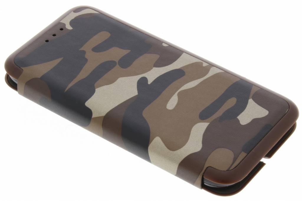 Bruine Army Slim Folio Case voor de Samsung Galaxy A3 (2017)