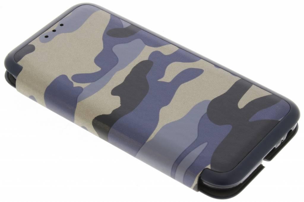 Armée Bleu Cas Folio Mince Pour Samsung Galaxy A5 (2017) KabFeF