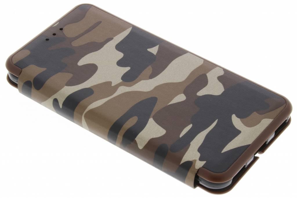 Bruine Army Slim Folio Case voor de Huawei Y6 (2017)