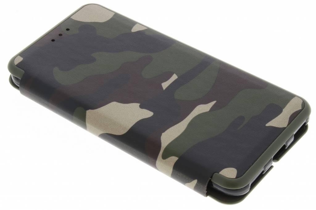 Groene Army Slim Folio Case voor de Huawei Y6 (2017)