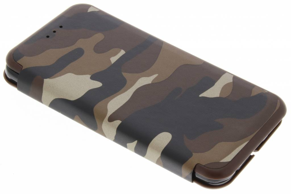 Bruine Army Slim Folio Case voor de LG G6