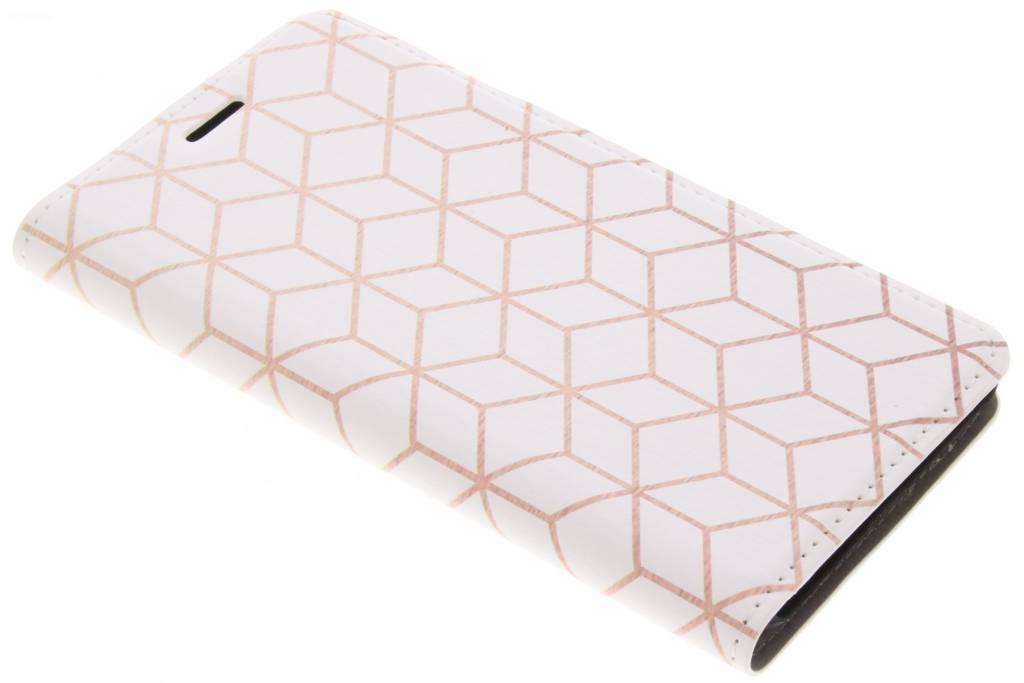 Cubes Rose Gold Design Booklet voor de Huawei Y6 (2017)