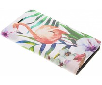 Flamingo Design Booklet Huawei Y6 (2017)