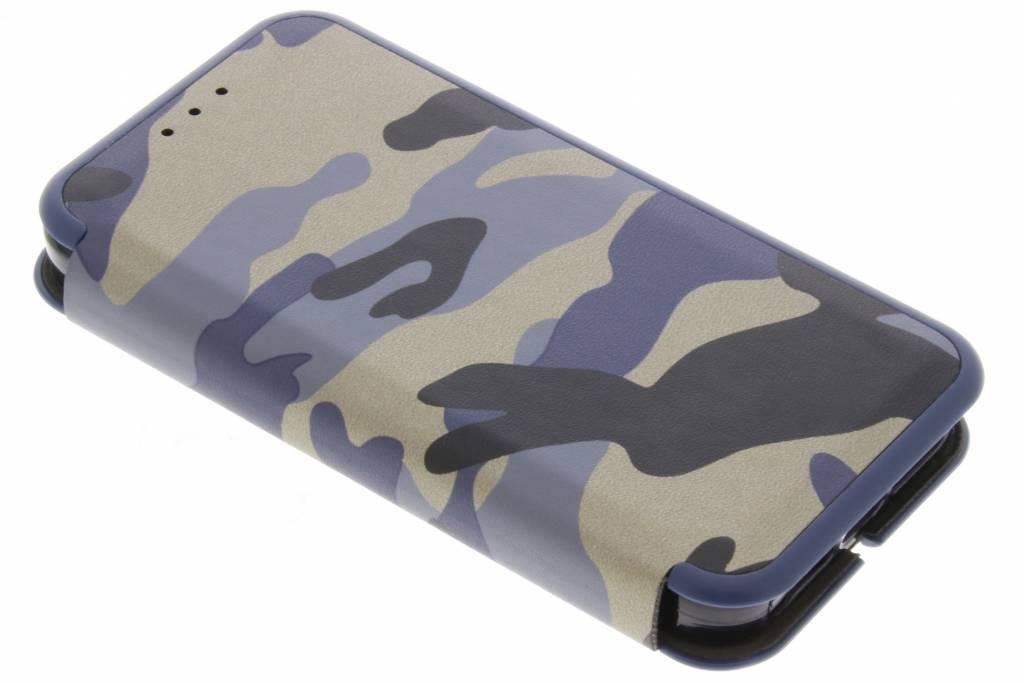 Blauwe Army Slim Folio Case voor de iPhone 5 / 5s / SE