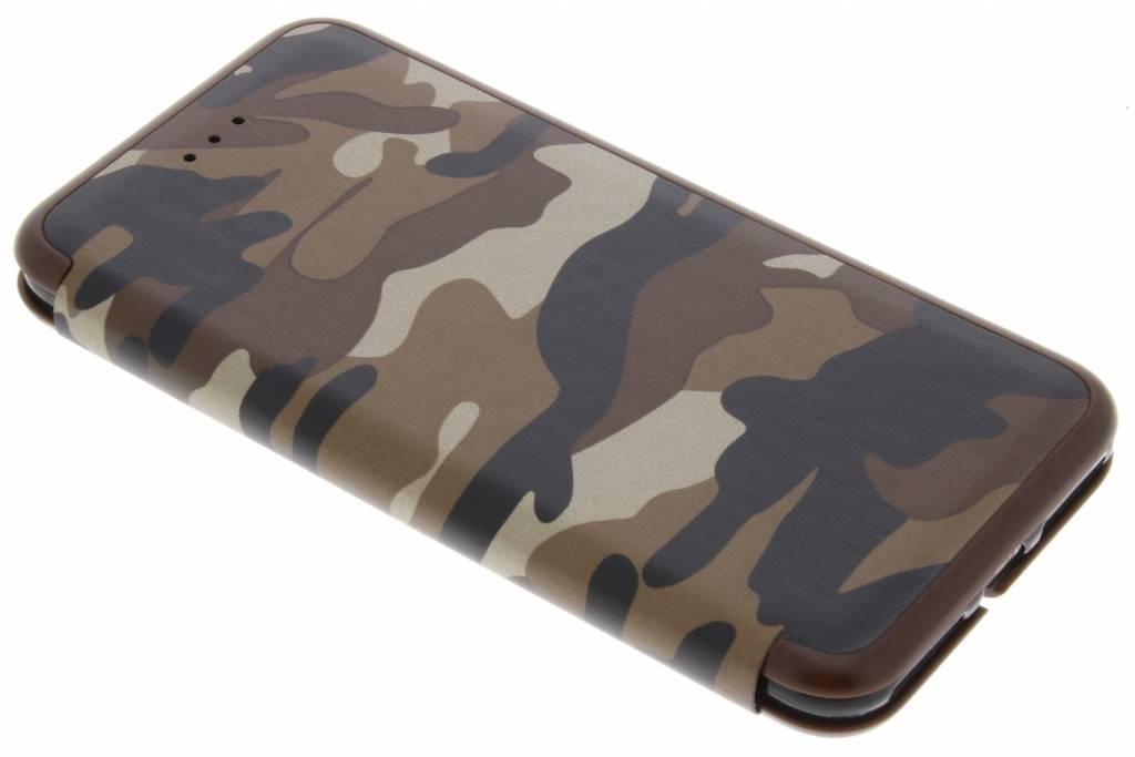 Bruine Army Slim Folio Case voor de iPhone 8 Plus / 7 Plus