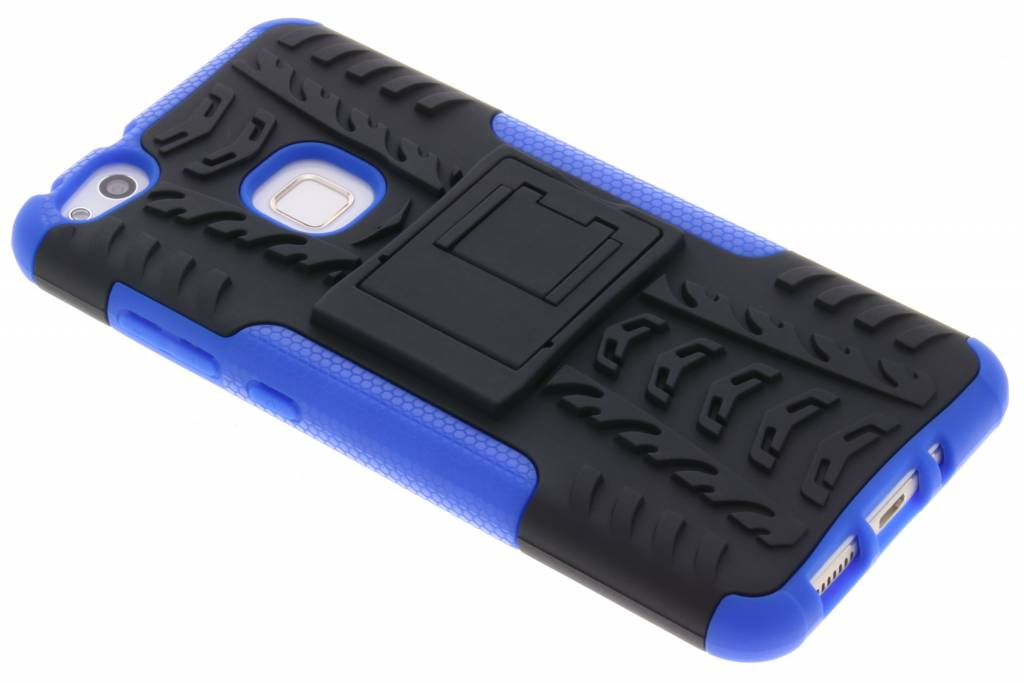 Blauwe Autoband Hybrid Case voor de Huawei P10 Lite