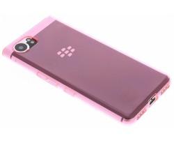 Roze Transparant gel case Blackberry KeyOne