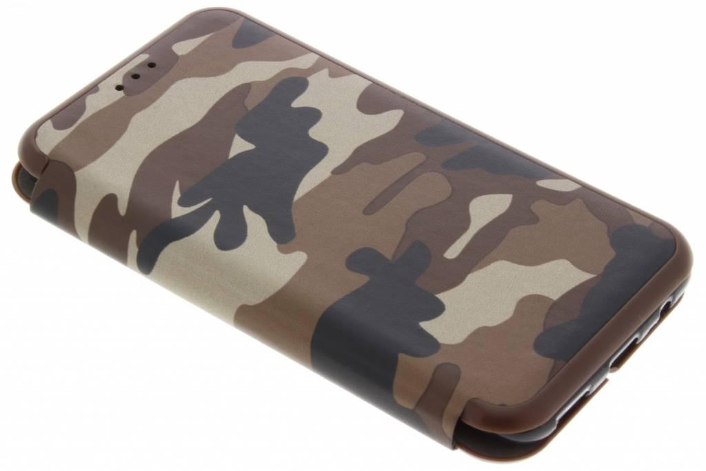 Bruine Army Slim Folio Case voor de OnePlus 5
