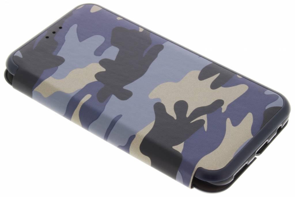 Blauwe Army Slim Folio Case voor de OnePlus 5