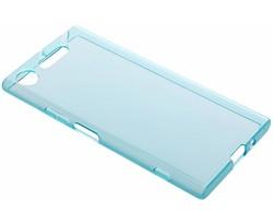 Blauw transparant gel case Sony Xperia XZ1