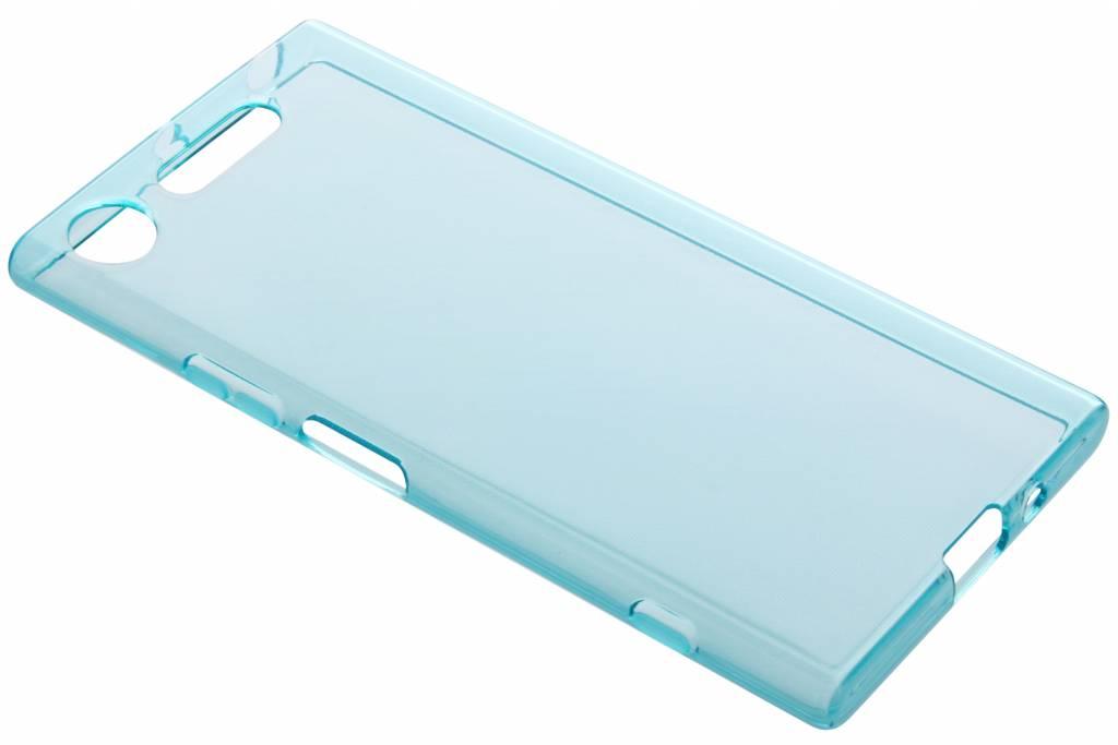Blauwe transparante gel case voor de Sony Xperia XZ1