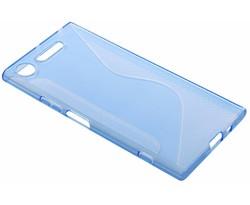 Blauw transparant S-line TPU hoesje Sony Xperia XZ1