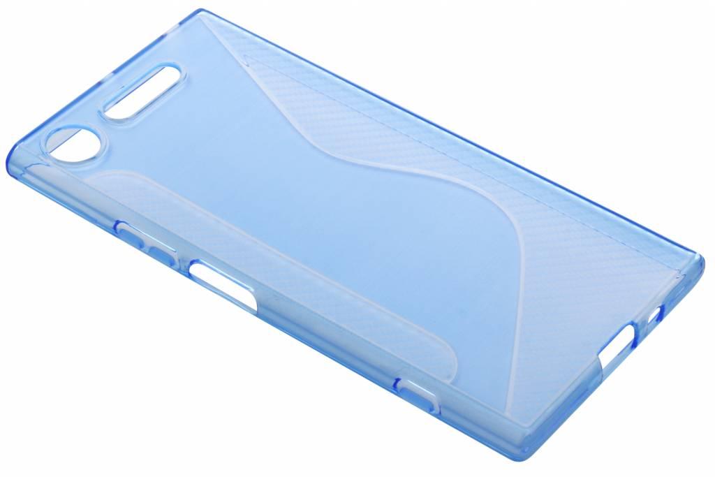 Blauw transparant S-line TPU hoesje voor de Sony Xperia XZ1