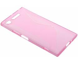 Roze transparant S-line TPU hoesje Sony Xperia XZ1