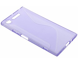 Paars transparant S-line TPU hoesje Sony Xperia XZ1