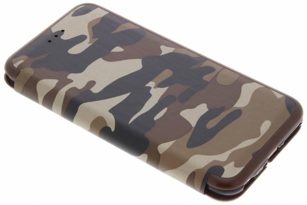 Bruine Army Slim Folio Case voor de iPhone 6(s) Plus