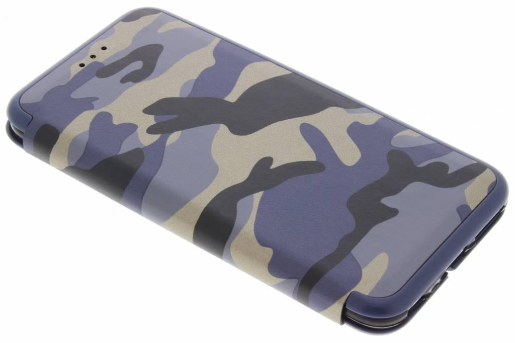 Blauwe Army Slim Folio Case voor de iPhone 6(s) Plus