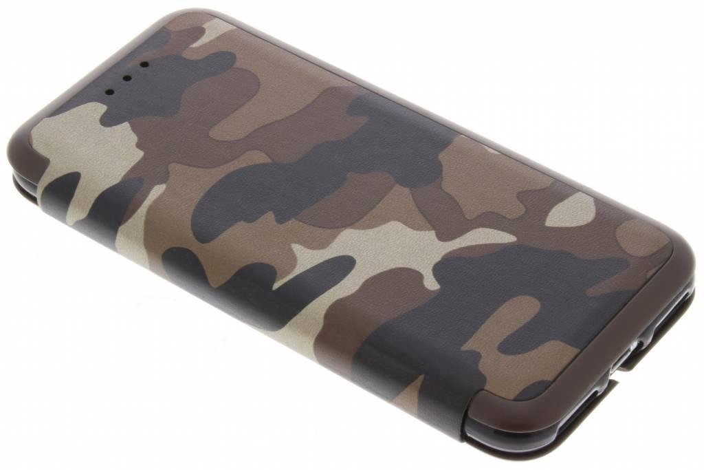 Bruine Army Slim Folio Case voor de iPhone 8 / 7