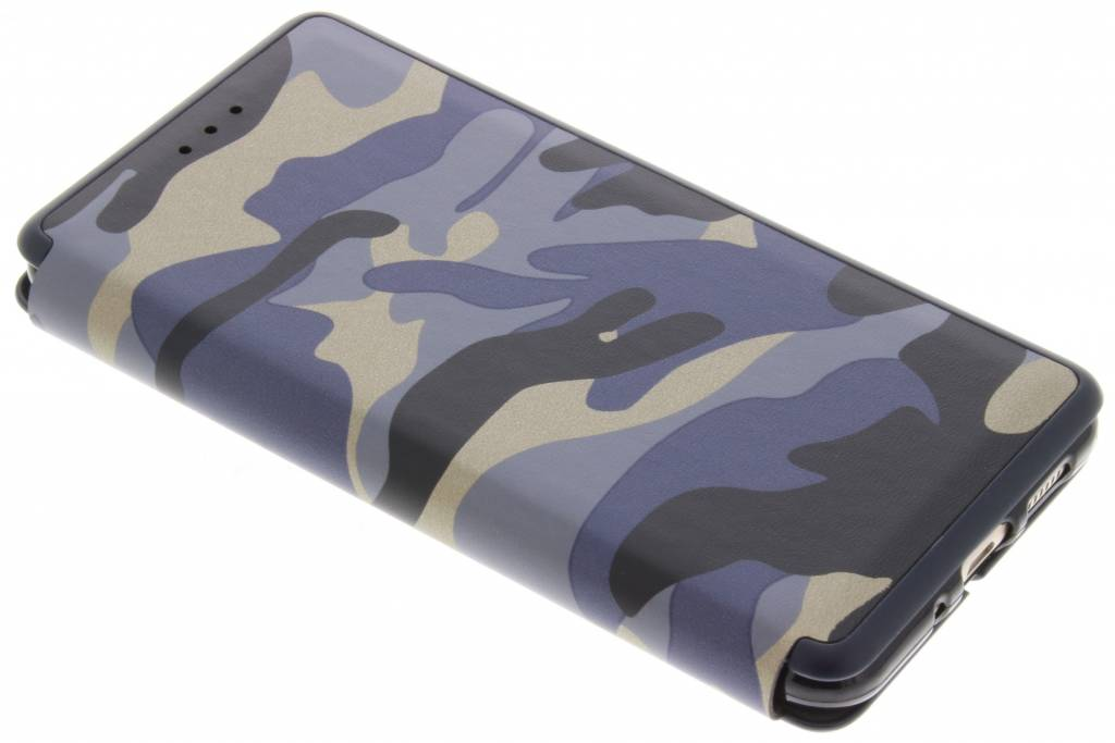 Blauwe Army Slim Folio Case voor de Huawei P10 Lite