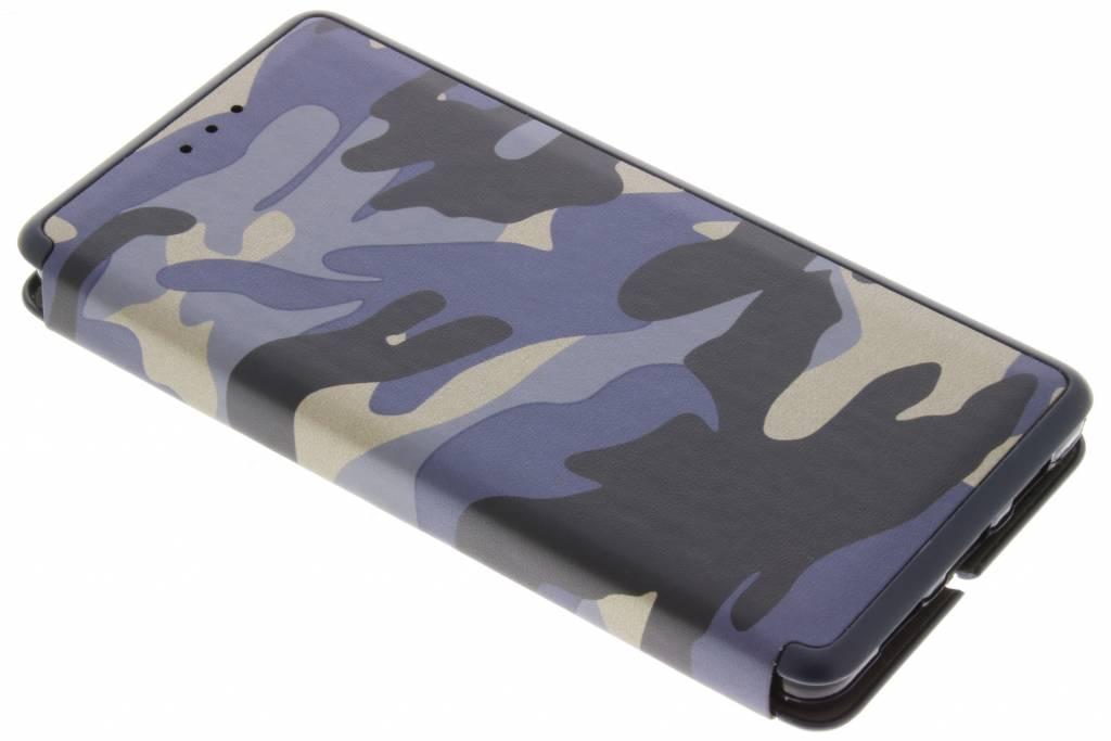 Blauwe Army Slim Folio Case voor de Huawei P8 Lite