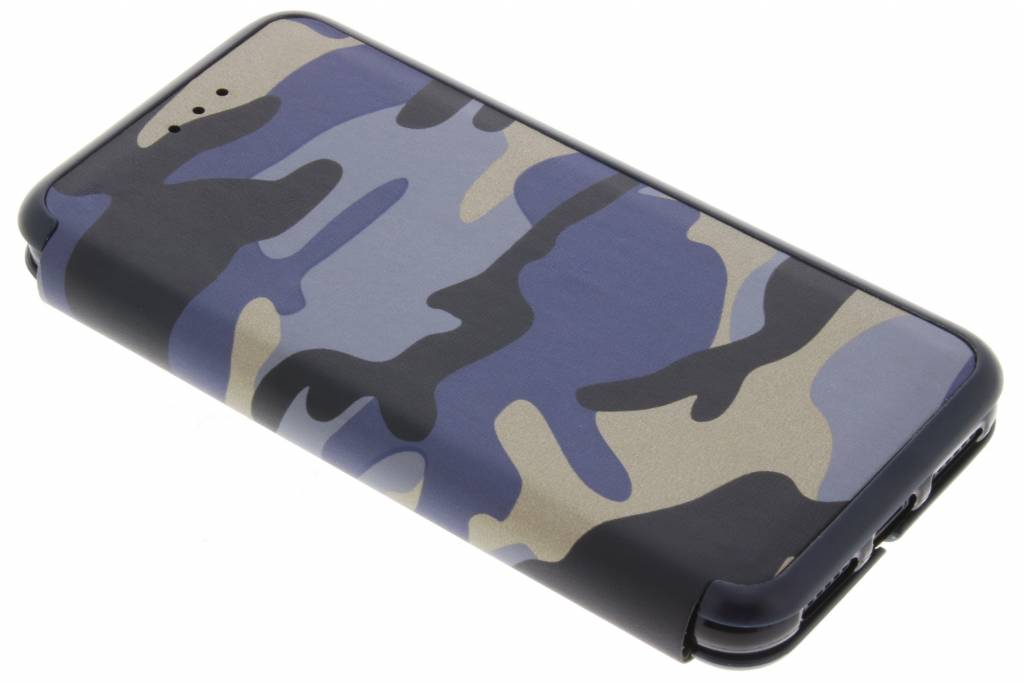 Blauwe Army Slim Folio Case voor de iPhone X