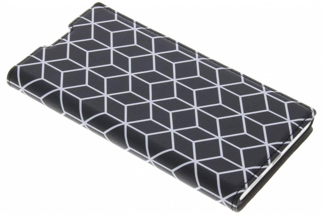 Cubes Black Design Booklet voor de Sony Xperia L1