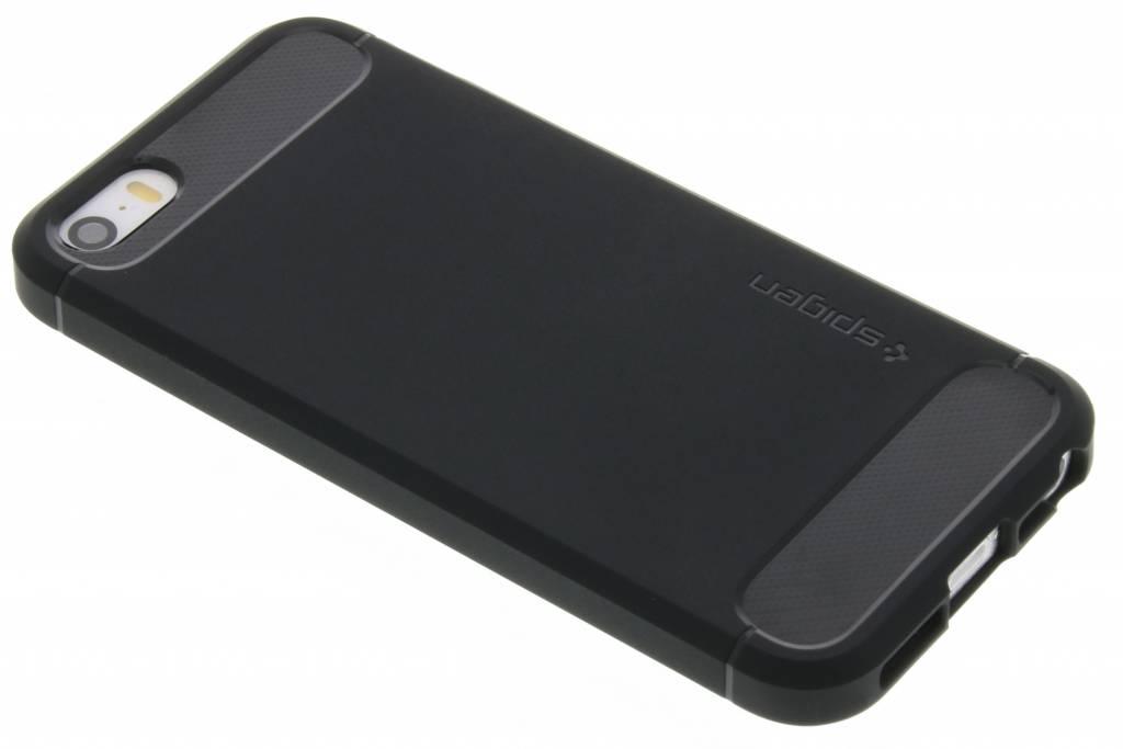 Spigen Rugged Armor Case voor de iPhone 5 / 5s / SE - Zwart