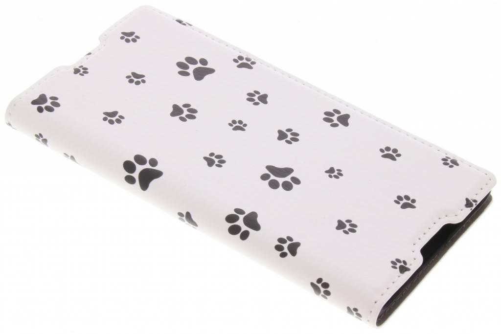 Dierenpootjes Design Booklet voor de Sony Xperia XA1