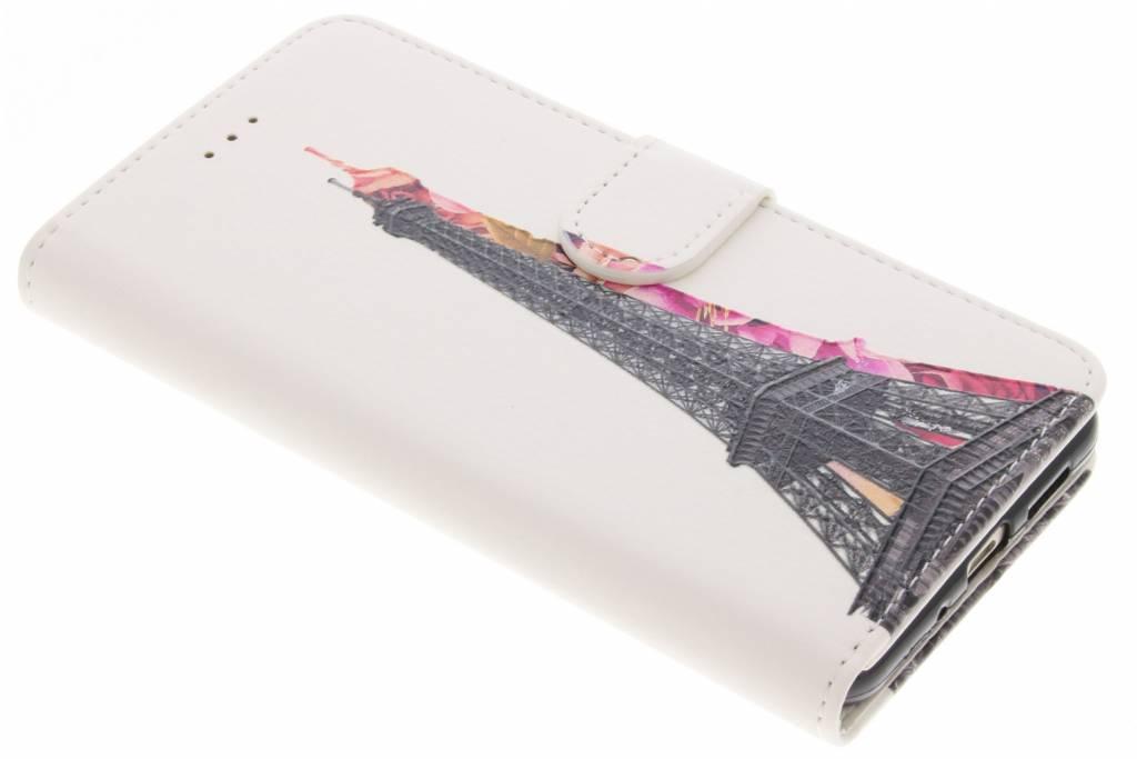 Eiffeltoren design TPU booktype hoes voor de Huawei P10 Lite