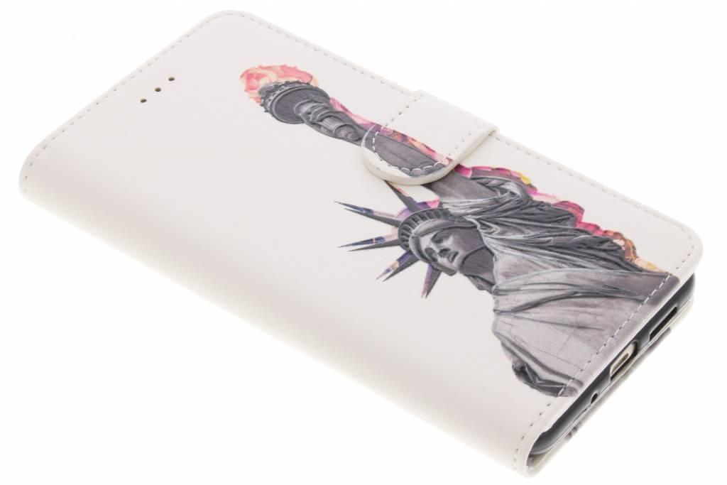 Vrijheidsbeeld design TPU booktype hoes voor de Huawei P10 Lite