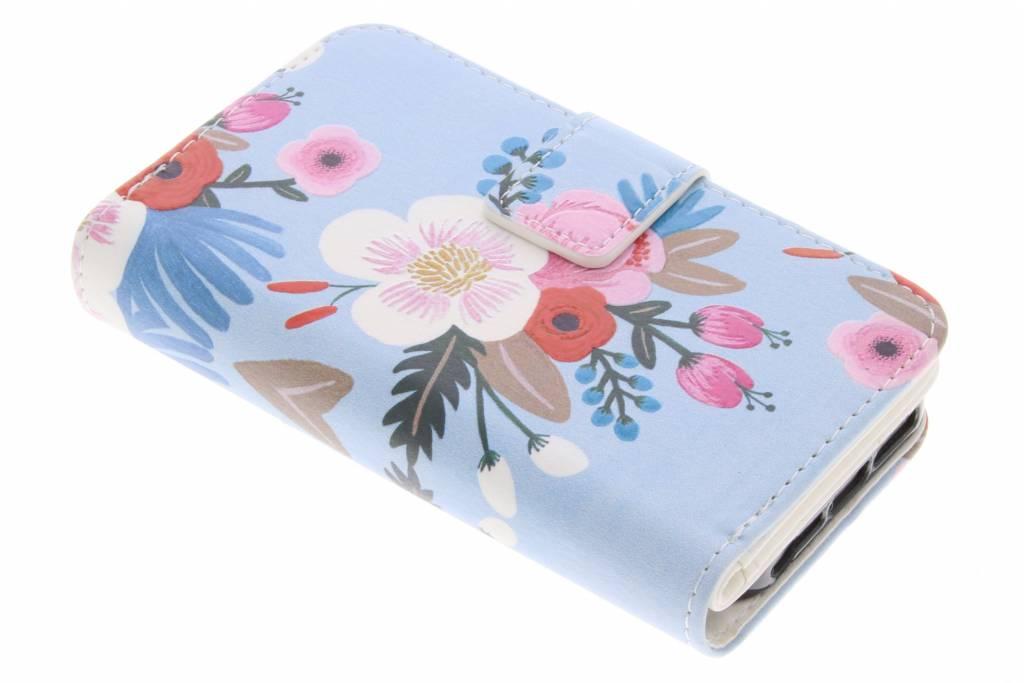 Bloemen design TPU portemonnee voor de iPhone 5 / 5s / SE
