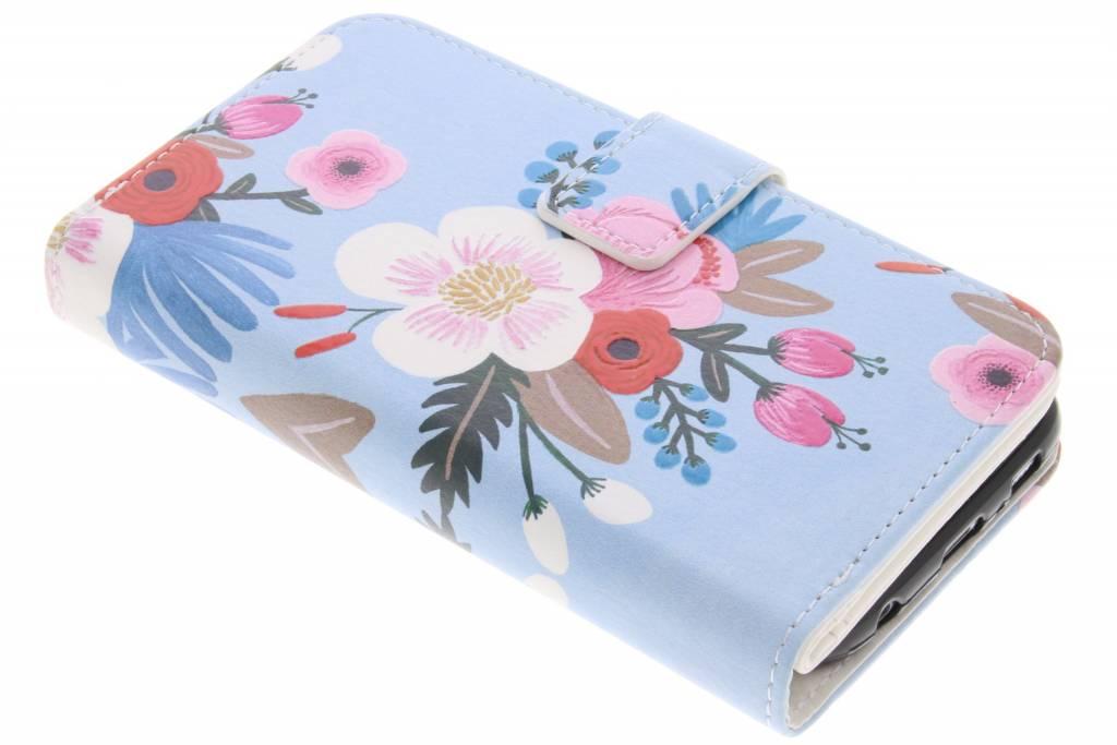 Bloemen design TPU portemonnee voor de Samsung Galaxy S6
