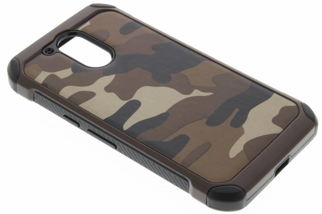 Bruine army defender hardcase hoesje Motorola Moto G4 (Plus)