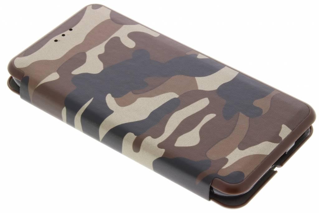 Bruine Army Slim Folio Case voor de Samsung Galaxy J3 (2017)