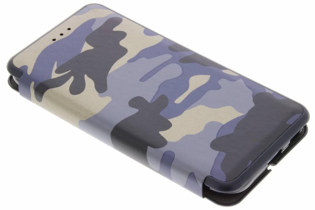 Blauwe Army Slim Folio Case voor de Samsung Galaxy J3 (2017)