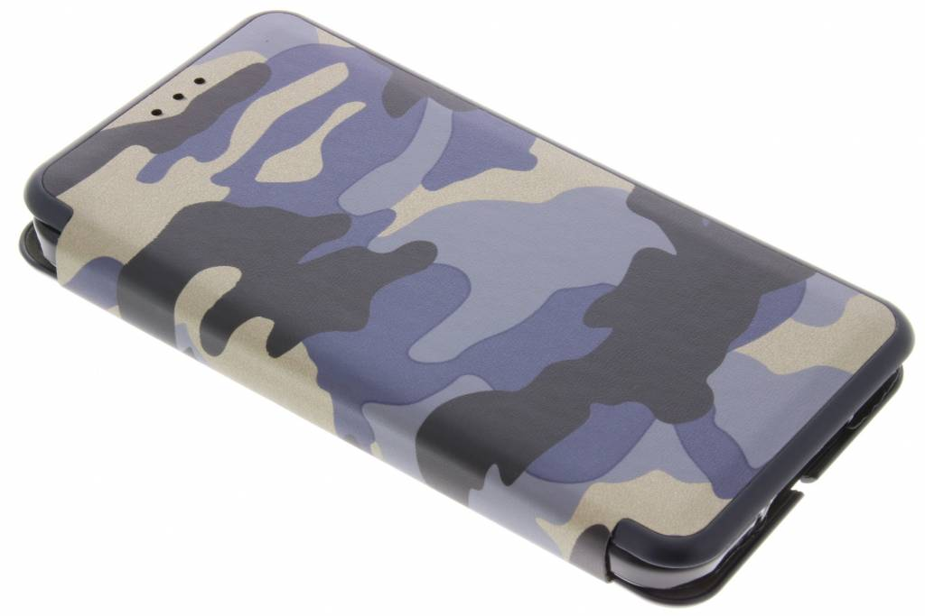 Blauwe Army Slim Folio Case voor de Samsung Galaxy S5 (Plus) / Neo